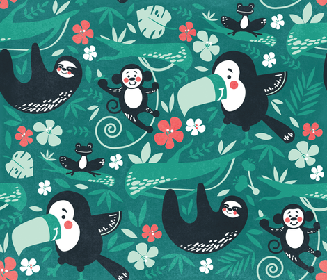Toucan Play This Game fabric by jody_mcmullen on Spoonflower - custom fabric