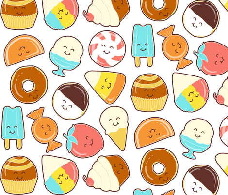 happy sweets fabric by bubbledog on Spoonflower - custom fabric