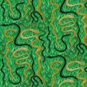 Slithering in the Grass on Rainforest Green