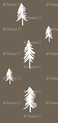 Pine tree - dark brown