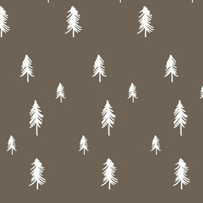 Pine tree - dark brown
