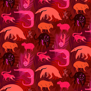 rainforest animals in ruby