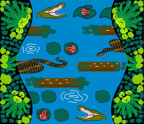 Frogger_Inspired_Rainforest1 fabric by 1kristen on Spoonflower - custom fabric