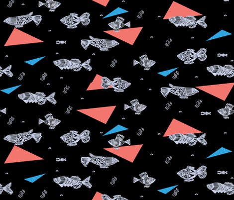 fish_in_dark_water fabric by isabella_asratyan on Spoonflower - custom fabric