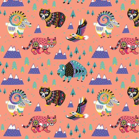 Mountain Animals fabric by penguinhouse on Spoonflower - custom fabric