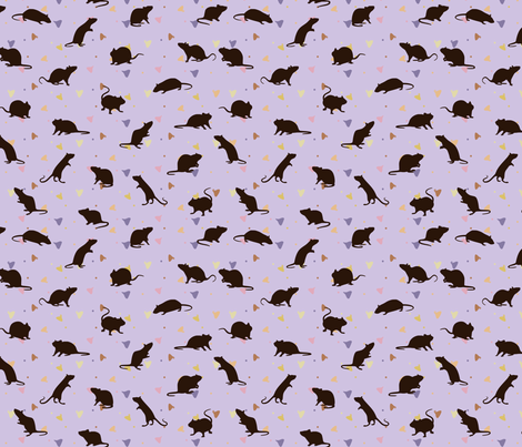 Rats and Yogies - Berry Agouti fabric by griffinswings on Spoonflower - custom fabric