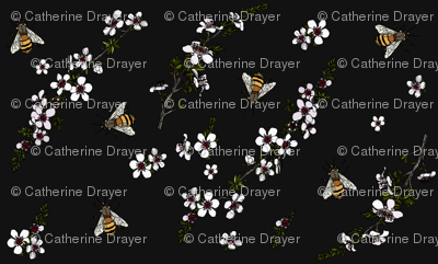 Manuka with bees on charcoal