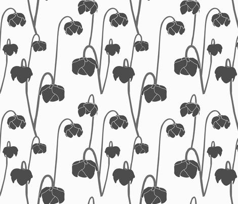 pitcherplantcharcoal fabric by krista_power on Spoonflower - custom fabric