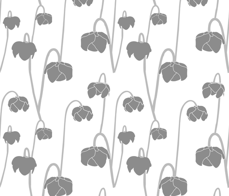 pitcherplantlightgrey fabric by krista_power on Spoonflower - custom fabric