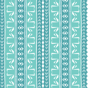 Tribal Swan Stripe Aqua & Robin's Egg