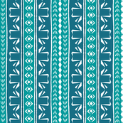 Tribal Swan Stripe Turquoise & Teal