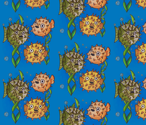 pufferfish fabric by tastili on Spoonflower - custom fabric
