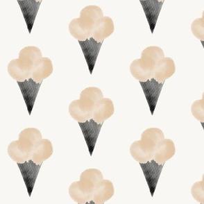 watercolor ice-cream cone