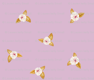 Rose Posy on Rose Lilac
