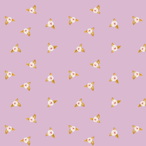 Rose Posy on Rose Lilac fabric by thistleandfox on Spoonflower - custom fabric