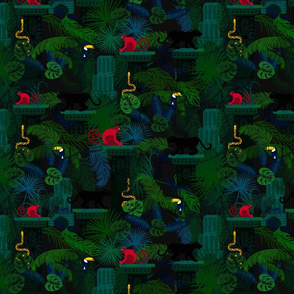 Rainforest and animals