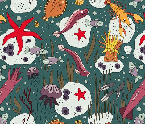 Undewater fabric by marta_strausa on Spoonflower - custom fabric