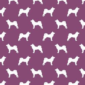 akita dog fabric - akita silhouette - dog silhouette design - amethyst