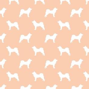akita dog fabric - akita silhouette - dog silhouette design - apricot