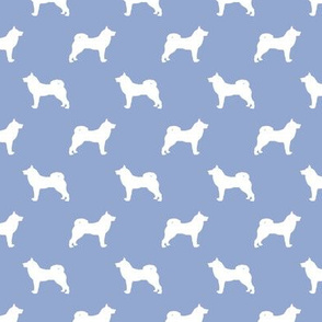 akita dog fabric - akita silhouette - dog silhouette design - cerulean