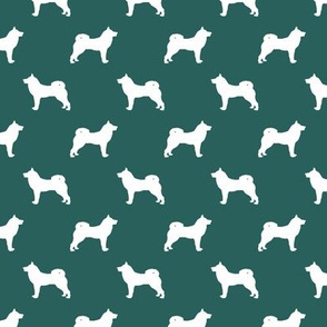 akita dog fabric - akita silhouette - dog silhouette design -eden green
