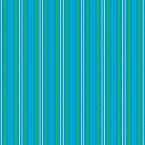 Carmine Spackle Stripes Turquoise, Green, Powder Blue Sky