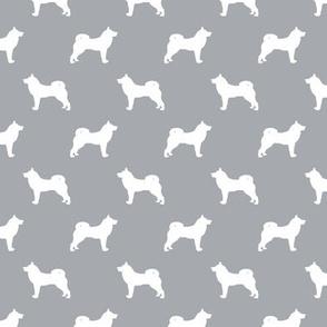 akita dog fabric - akita silhouette - dog silhouette design - quarry