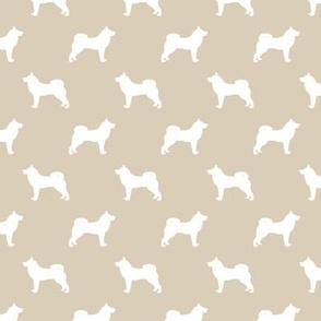 akita dog fabric - akita silhouette - dog silhouette design - sand