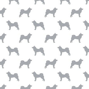 akita dog fabric - akita silhouette - dog silhouette design - quarry and white