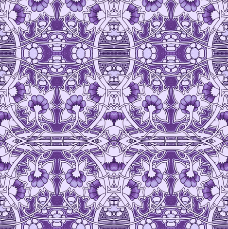 Do It With Purple fabric by edsel2084 on Spoonflower - custom fabric