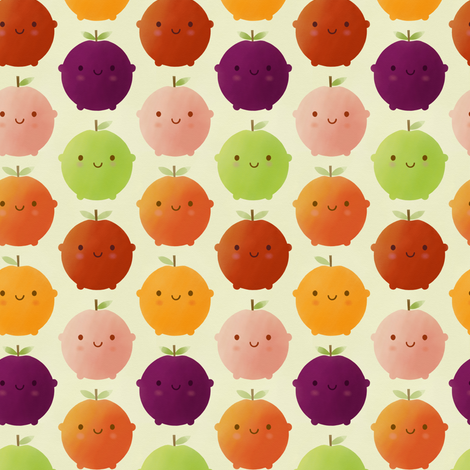 Cutie Fruity (Watercolour) fabric by marcelinesmith on Spoonflower - custom fabric