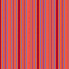 Carmine Spackle Stripes Orange Sky Purple