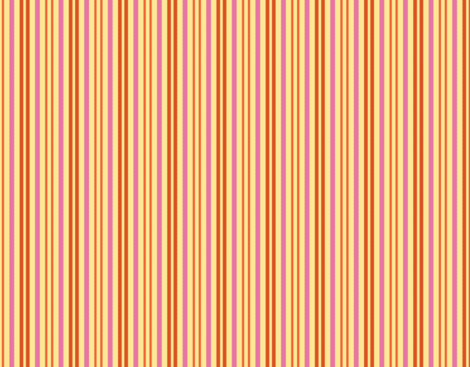 Carmine Spackle Stripes Yellow Terra Cotta Orange Pink fabric by serendipity_textiles on Spoonflower - custom fabric