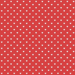 White polka hearts (red)