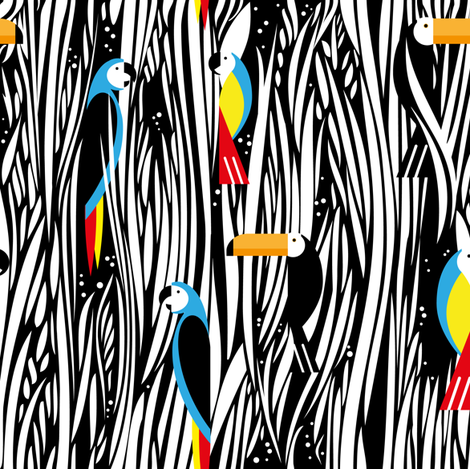 parrots and toucans fabric by zapi on Spoonflower - custom fabric