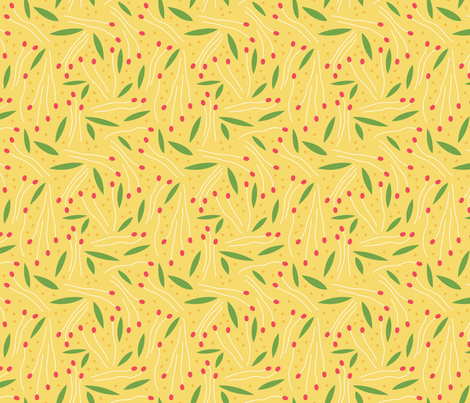 Sprigs and Leaves (Spring) fabric by brendazapotosky on Spoonflower - custom fabric