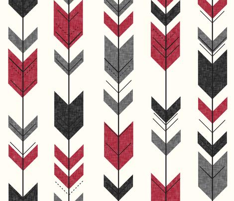 fletching arrows (cream) || the happy camper fabric by littlearrowdesign on Spoonflower - custom fabric