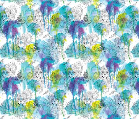 Mermaid Spirits small fabric by cynthiafrenette on Spoonflower - custom fabric