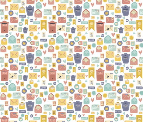 Going Postal 2 fabric by sovendebjorn on Spoonflower - custom fabric