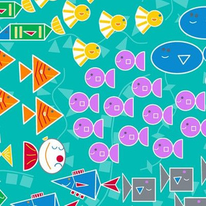 small scale: fish for counting, shapes & colors