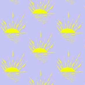 Sinking Suns on a Sun Bleached Sea