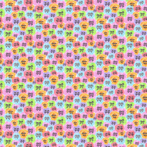 Tiny Monster Puffs  fabric by sufficiency on Spoonflower - custom fabric
