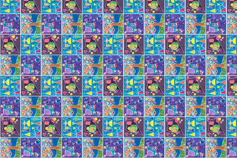 Kandinsky_4_Squared_4__with_purple fabric by lisa_eaton on Spoonflower - custom fabric