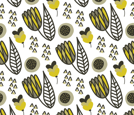 Modern Tulips fabric by kellyparkersmith on Spoonflower - custom fabric