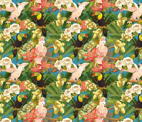 rainforest-life fabric by julistyle on Spoonflower - custom fabric