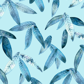 tropical blue leaves