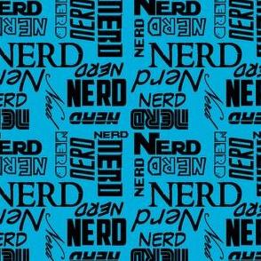Nerd on blue