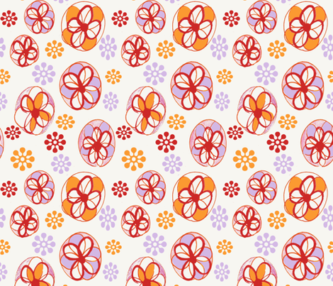 fleurs sketch fabric by saschadahlia on Spoonflower - custom fabric