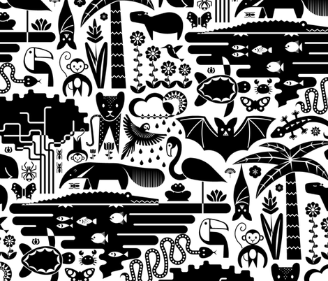 rainforest friends fabric by analinea on Spoonflower - custom fabric
