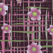 Floral Plaid Cranberry Larger